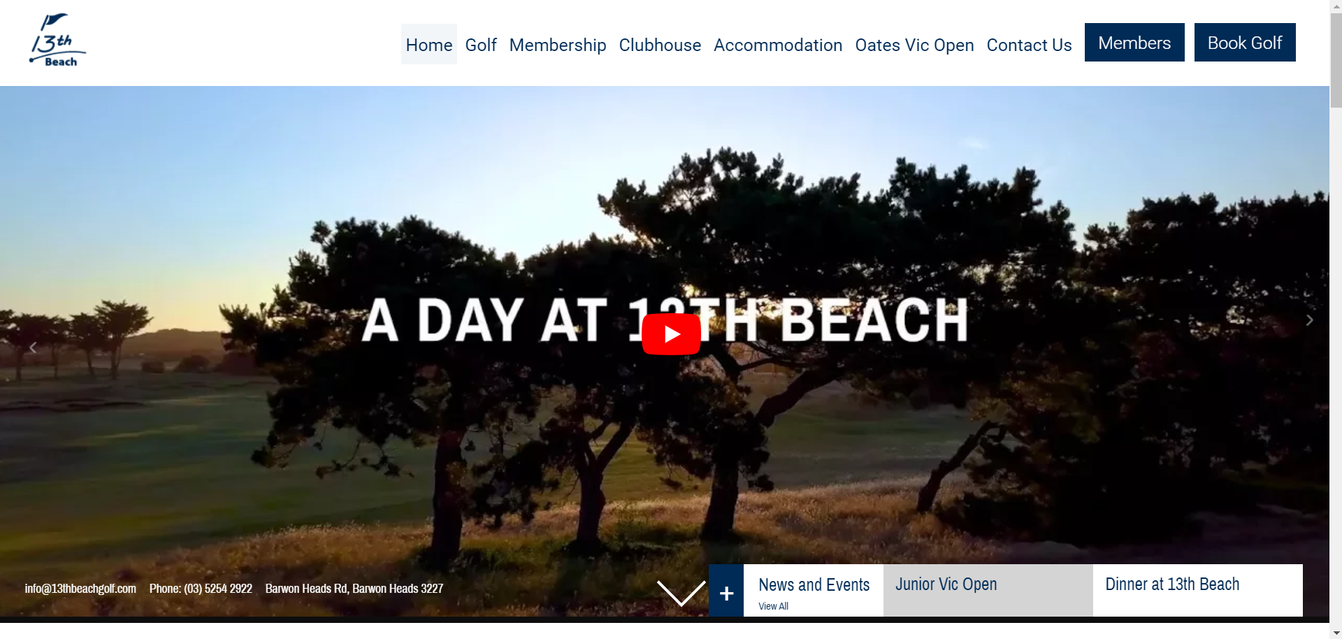 13th Beach Golf Links Website