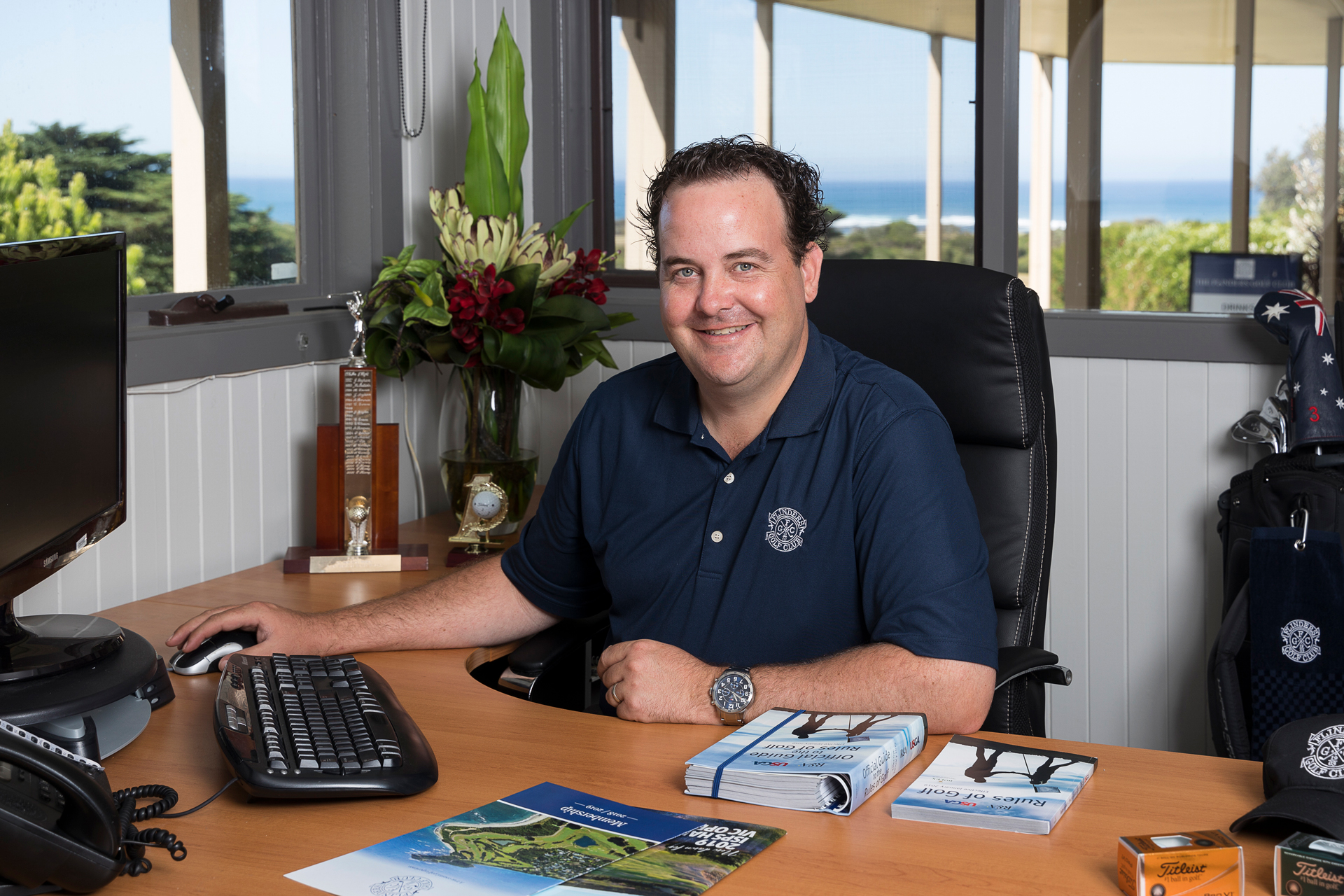 Chris Poulton at Flinders Golf Club