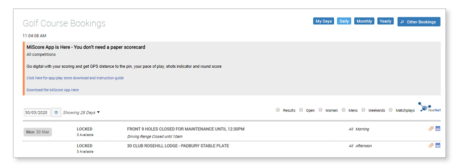 Fixture notice example